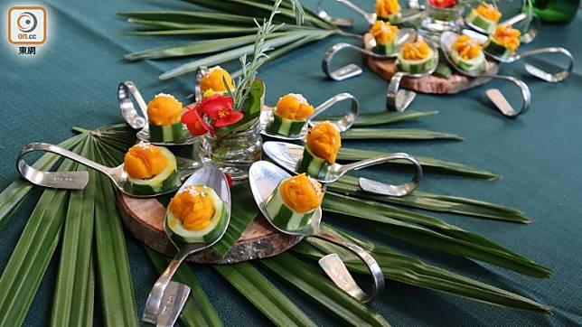 「可食風景」菜式花款多,配搭絕不單調。(劉達衡攝)
