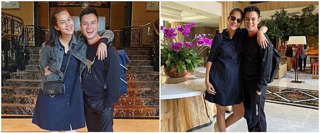 Aksi kocak Baim Wong tiru potret maternity Paula Verhoeven