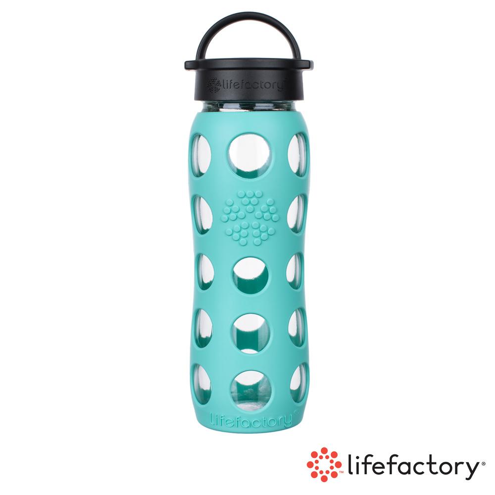 【Lifefactory】玻璃水瓶平口650ml-薄荷綠