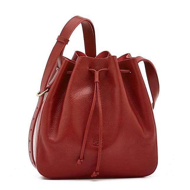 Il Bisonte紅色牛皮水桶袋(互聯網)
