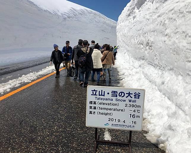 來到室堂駅,便可以參觀雪之大谷。(互聯網)
