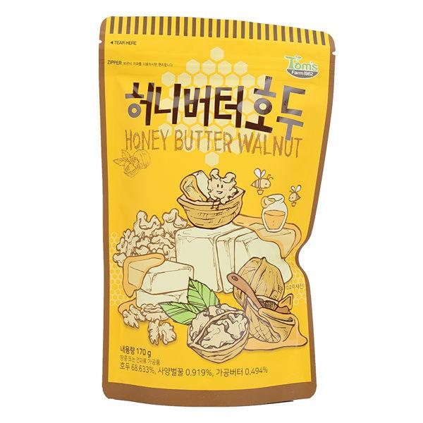 商品名稱:韓國 Toms gilim 蜂蜜奶油核桃果 容量/規格:170g 成份:如圖示 保存期限:2020.01.10 貨源:平輸 產地:韓國 營養標示:如圖示 備註:超取最多25包,超過請下宅配訂