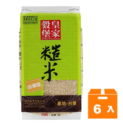 商品規格:2.5kg (6入)/箱 品牌:皇家穀堡 商品種類:米類 數量:2.5公斤 保存方式:常溫 食用方式:煮食 內容物成份:糙米 熱量:345大卡/100公克 每份營養成份: 蛋白質7.9公克