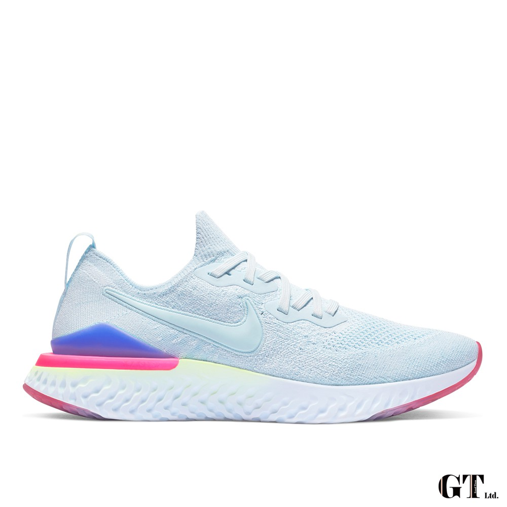 Nike Epic React Flyknit 2 水藍 男鞋 低筒 輕量 編織 運動鞋 慢跑鞋 BQ8928-453