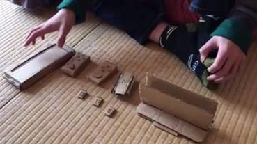 媽媽不肯買任天堂 Switch 給他 日本小五生只好自己用紙板做出一個...