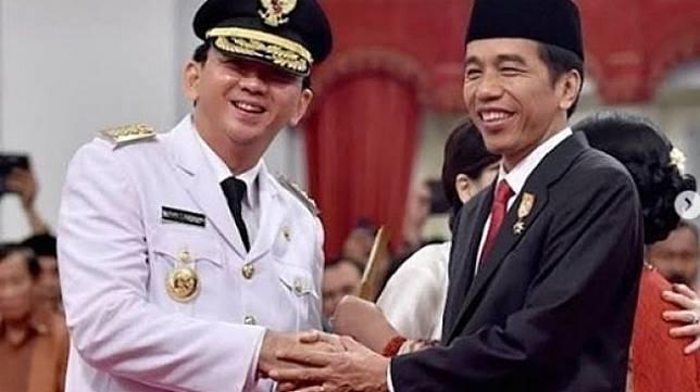 Ahok dan Jokowi. (@jokowi_btp_lovers/instagram)