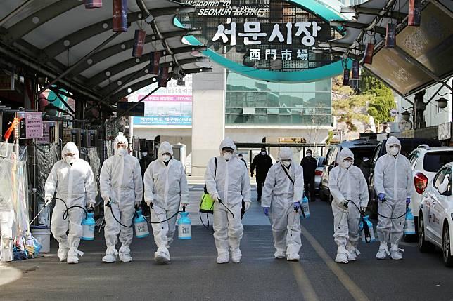 """ยอดตาย """"โควิด-19"""" ในเกาหลีใต้เพิ่มเป็น 5-ป่วยทะลุ 600 คน"""
