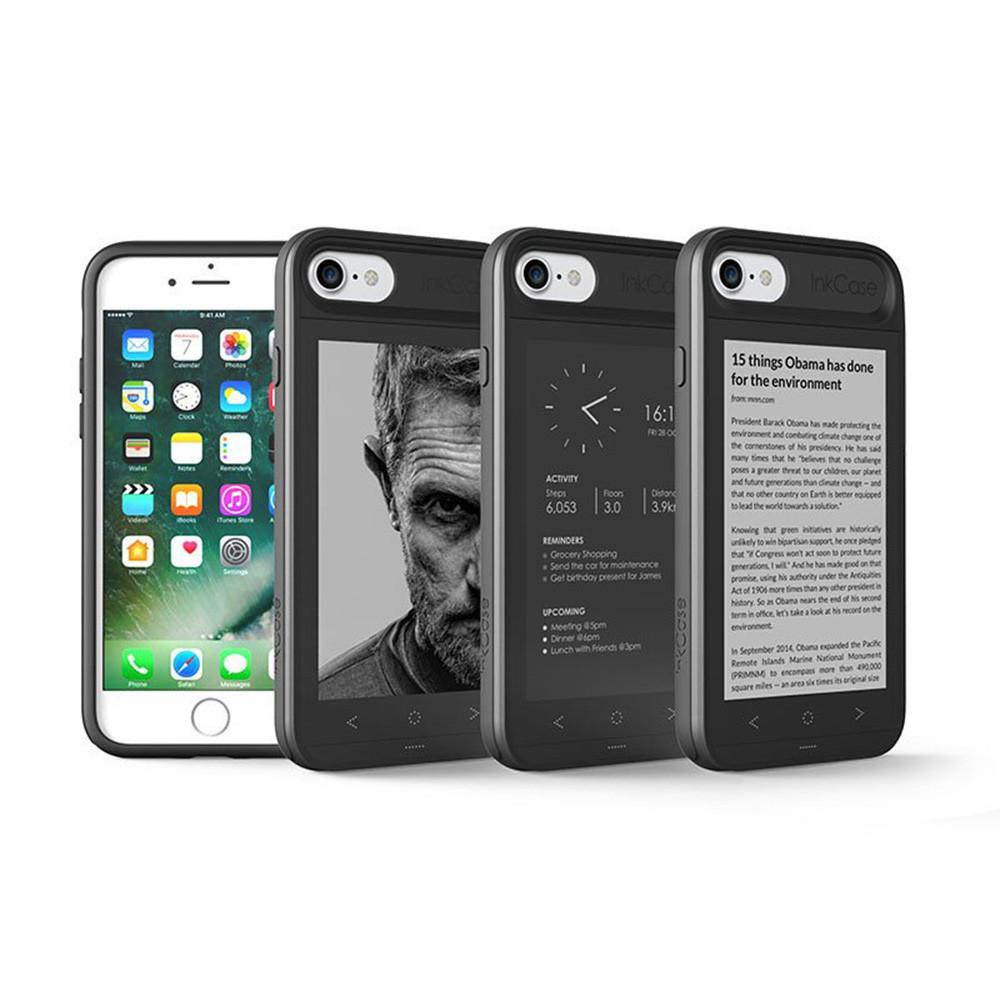 《商品特色》 ・世界上第一支讓手機擁有雙螢幕的手機殼 ・軍規等級跌落保護,讓手機免於摔落受損 ・iPhone 7 手機殼搭配E Ink電子墨水技術,顯示於第二個螢幕使閱讀更加輕鬆 ・4.3吋顯示螢幕,