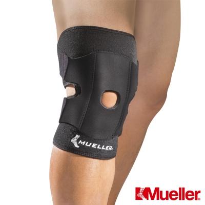 Neoprene材質提供均等加壓及保暖效果臏骨開放為醫療級剪裁設計,更為貼合臏骨形狀外層4條可調式束帶提供集中加壓功能,加強穩定膝關節