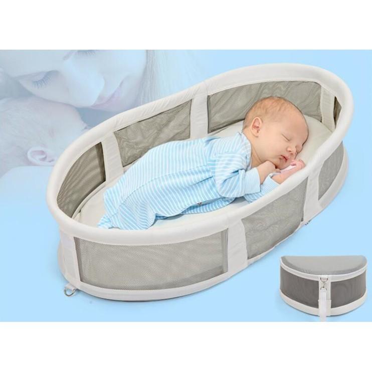 免運費bb新生兒便攜式小床 可折疊睡籃 多功能旅行寶寶床上床 嬰兒床床中床 - 便攜床