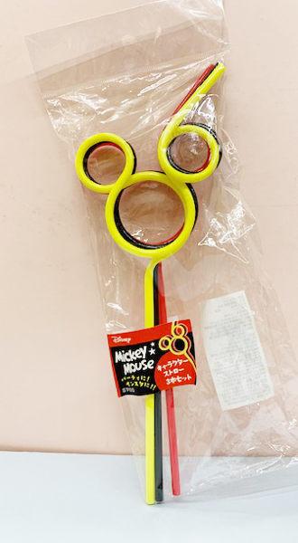 【震撼精品百貨】Micky Mouse_米奇/米妮 ~迪士尼米奇造型吸管三入三色~米奇#41316