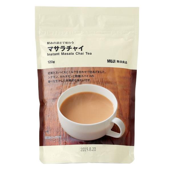紅茶牛奶為基底再添加肉桂、小荳蔻等印度香料增添香氣再家也以享受到香甜拉茶的滋味每袋可沖泡約7杯內容物: 1袋裝商品重量: 120g產地: 日本營養標示: 熱量:78kcal 蛋白質:0.5g,脂肪:2