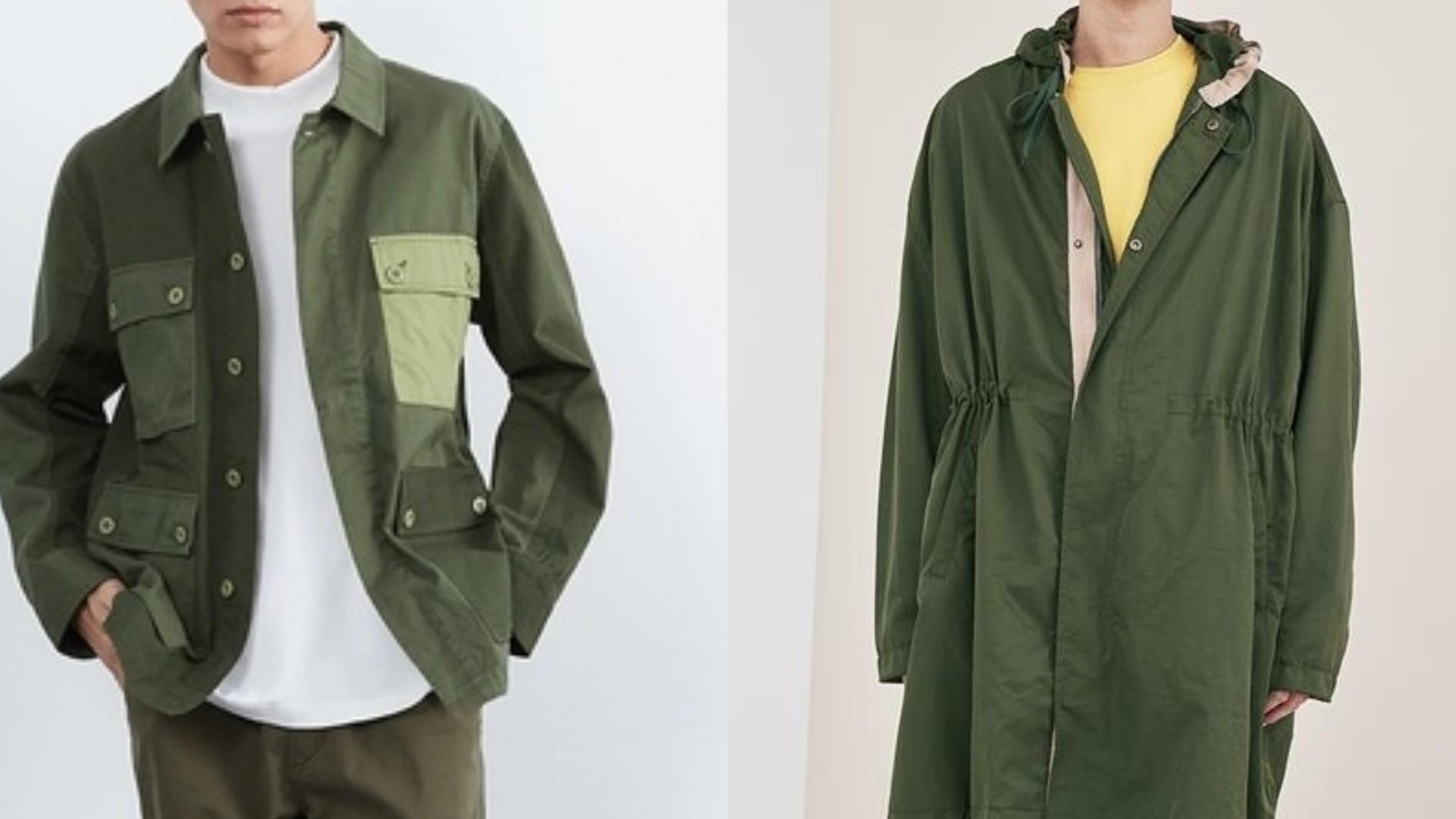 軍綠單品指南|男子衣櫃中的必備色,本季就以軍綠色單品提升你的穿搭格度