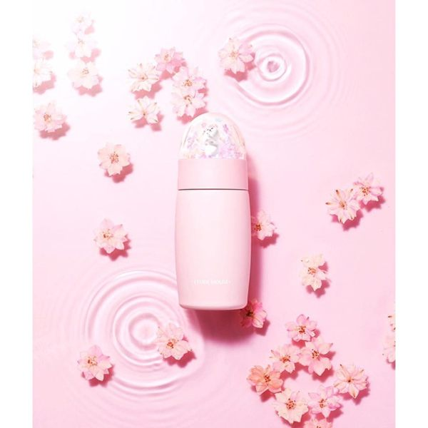 Etude House 櫻花限定 貓咪保溫瓶 300ml 【美日多多】