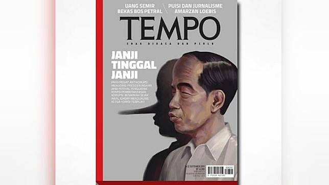 The cover of TEMPO magazine's September 16, 2019 edition. TEMPO