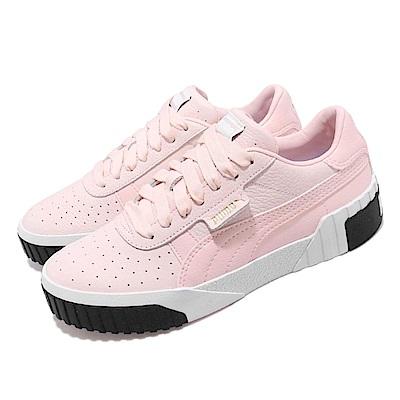 品牌: PUMA型號: 36915506品名: Cali Wns配色: 粉紅色 白色特點: 皮革 質感 舒適 球鞋 厚底 復古 粉 白
