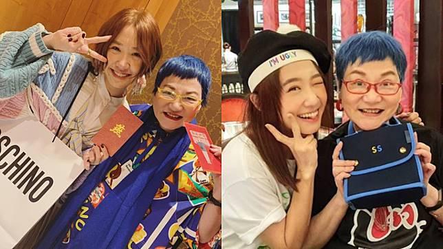 張小燕、黃子佼、Lulu在小年夜團聚。(圖/翻攝自Lulu Instagram)
