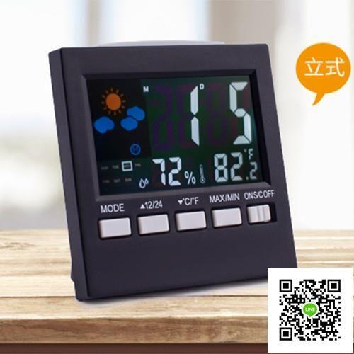 車載時鐘溫度計濕度計電子表汽車中控表車用高精度表鐘車內時間 一件免運