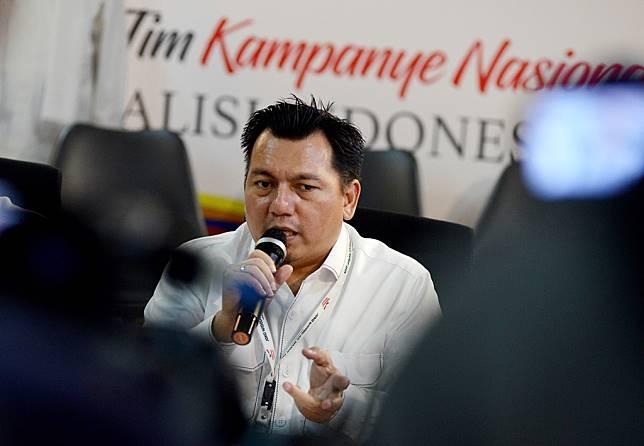 Direktur Hukum dan Advokasi Tim Kampanye Nasional (TKN) Joko Widodo-Ma'ruf Amin, Ade Irfan Pulungan. (Foto: MI/Susanto)