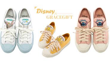 Grace Gift 推出迪士尼帆布餅乾鞋!超萌小飛象、小熊維尼、三眼怪,迪士尼控必收藏!