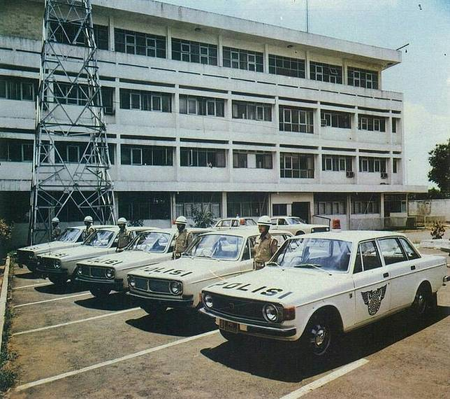 Potret Volvo 144 yang menjadi mobil polisi Indonesia