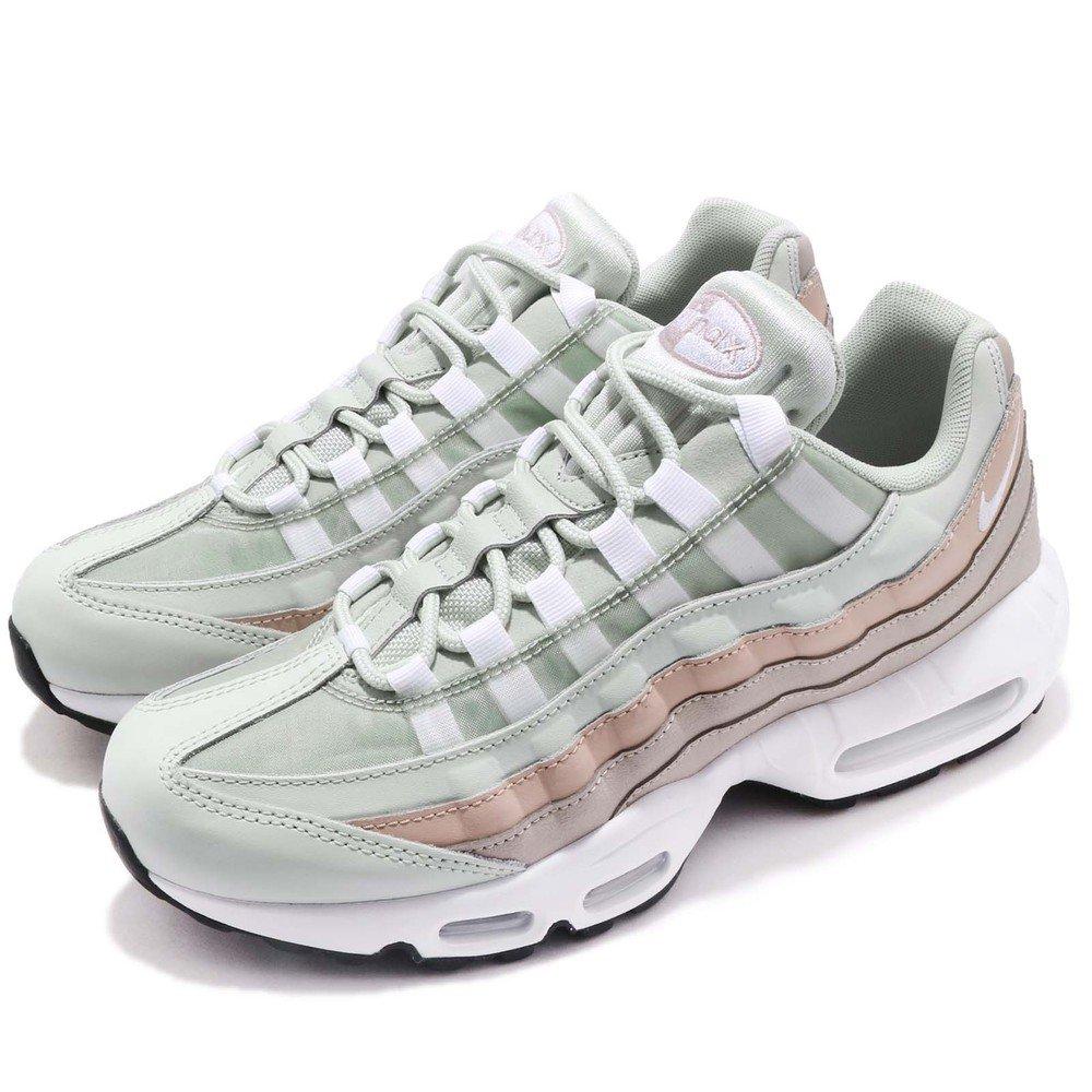NIKE 休閒鞋 Air Max 95 運動 女鞋 氣墊 避震 經典 復課 反光 穿搭 灰 白 [307960-018]
