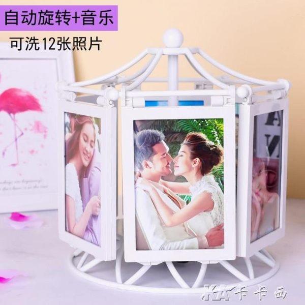 創意DIY手工訂製照片相冊相框擺臺婚紗照結婚紀念日生日禮物女生 卡卡西yyj