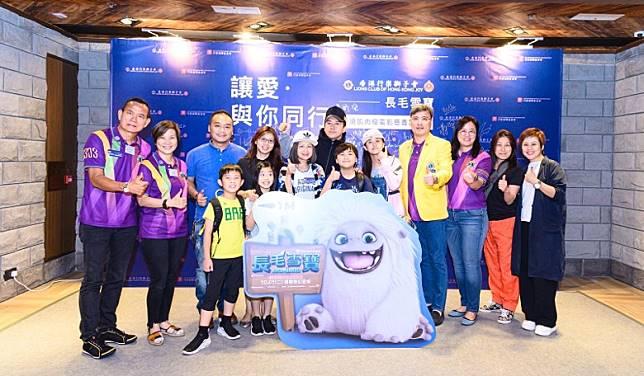 林子博一家四口出席慈善首映。