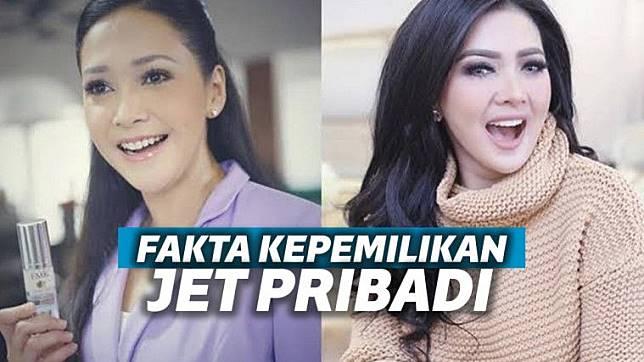Terungkap Kesamaan Jet Pribadi Syahrini dan Maia Estianty