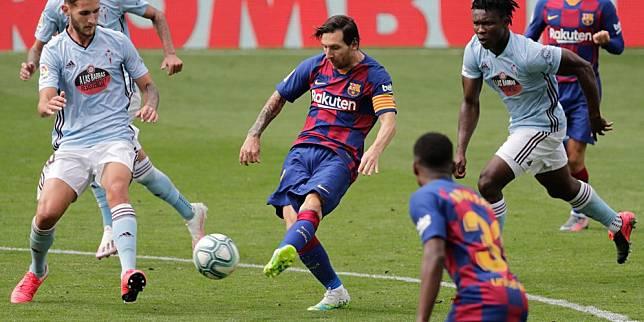 Pemain Barcelona, Lionel Messi. (c) AP Photo