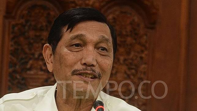Coordinating Minister for Maritime Affairs Luhut Binsar Pandjaitan. TEMPO/Imam Sukamto