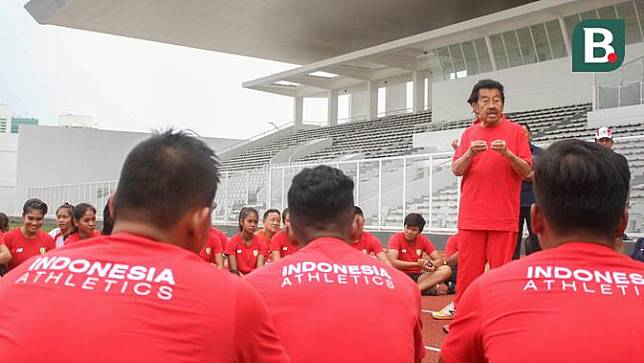 Pelatnas Atletik di Stadion Madya