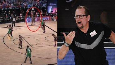 NBA 高砂一馬是你!暴龍總教練在底線假裝要球成功騙到 Tatum,球迷:本季最強戰術