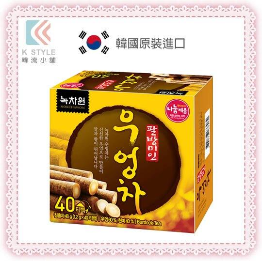 韓國 Nokchawon 綠茶園 牛蒡茶 40入/盒 韓國國民茶 旅韓必買