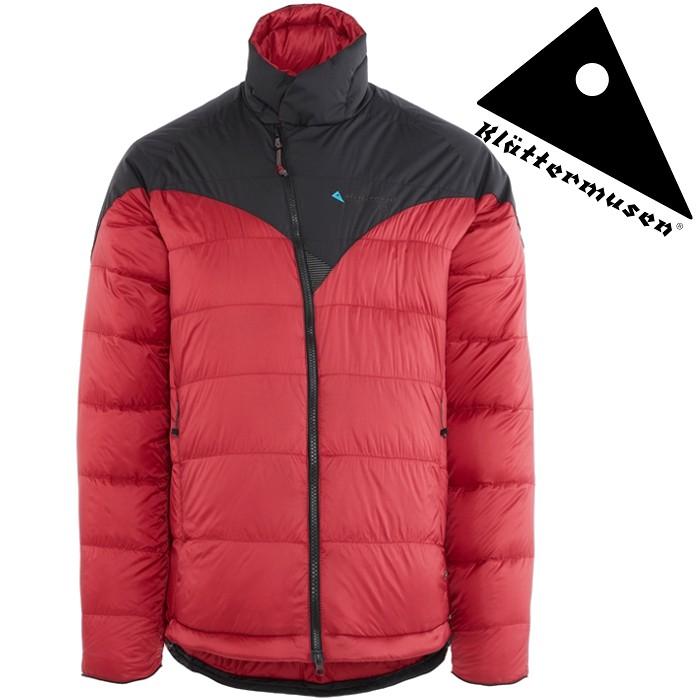 Klattermusen 攀山鼠 羽絨外套/羽絨衣/雪衣 Liv 男 FP800+ KM10620U81 暗紅渡鴉黑