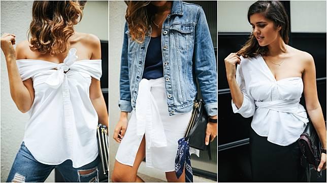 ไอเทมกันตาย เชิ้ตขาวตัวเดียว เปลี่ยนสไตล์เป็นเสื้อใหม่ ได้ถึง 4 แบบ