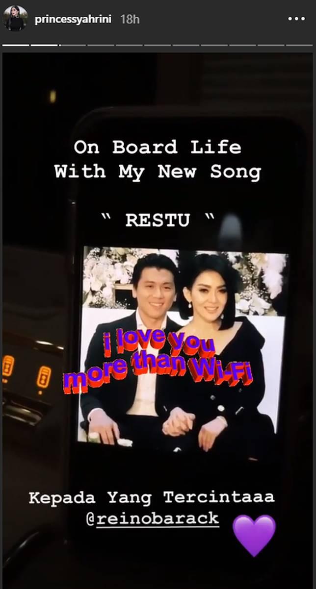 Syahrini keluarkan single terbaru berjudul Restu selepas resmi menikah dengan Reino Barack