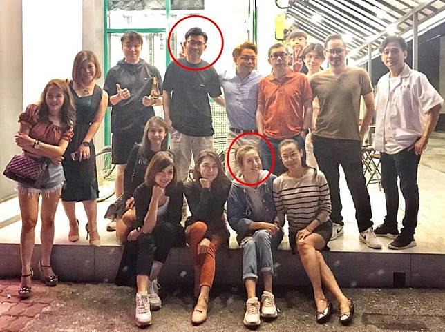 龔嘉欣馬來西亞新店開張,Bryan(後排紅圈者)亦有出現。