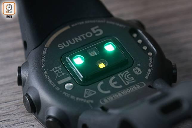 設有心率感測器,可隨時量度心跳率。(胡振文攝)