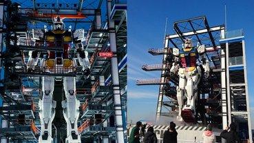 霸氣到不行!橫濱 18 公尺高「會走路的鋼彈」展示全身 34 可動細節,本月正式開幕!