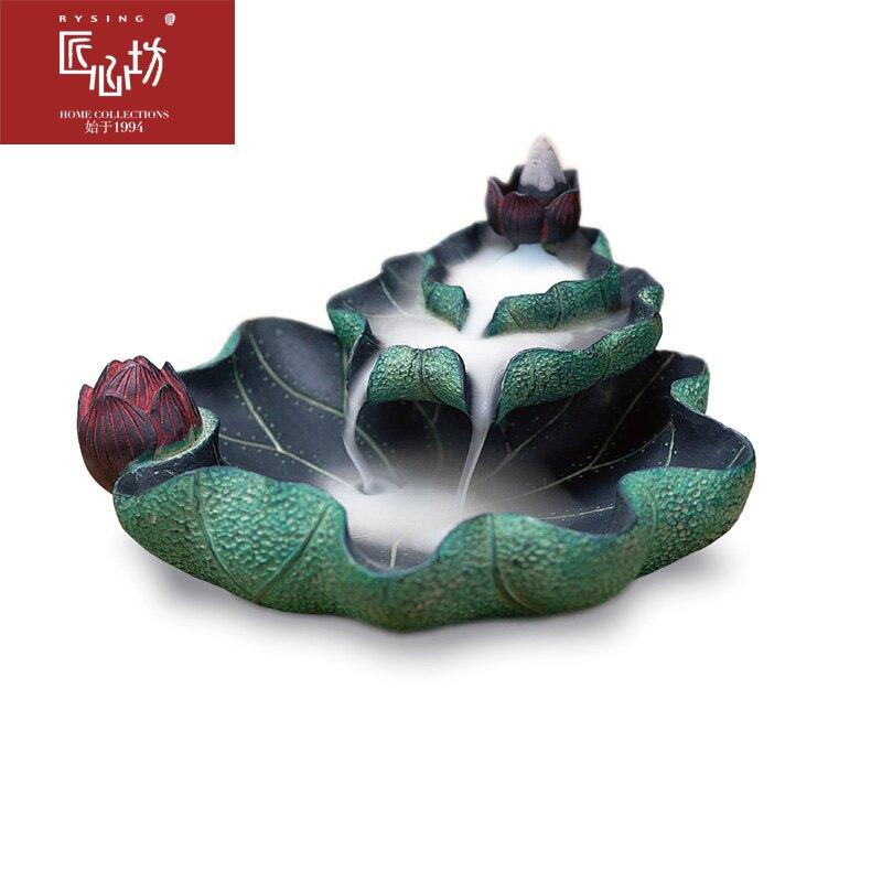 月色倒流香座中式香爐創意擺件茶室禪意香薰裝飾品 雙十一