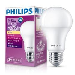 PHILIPS飛利浦 LED球型 10W 舒視光 LED燈泡E27 白光/黃光 全電壓 第七代(6入組)