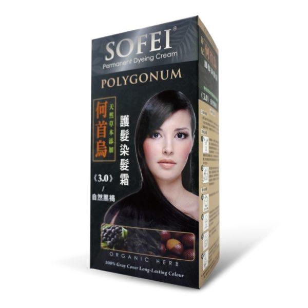 舒妃何首烏護髮染髮霜#3.0-自然黑褐