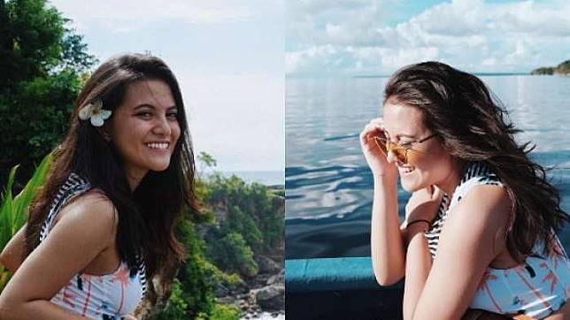 Intip Gaya Modis Calon Menantu Maia Estianty, Marsha Aruan dalam Balutan Kimono Floral