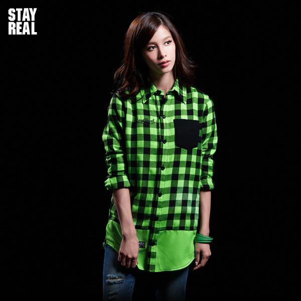 STAYREAL 飛炫格紋襯衫