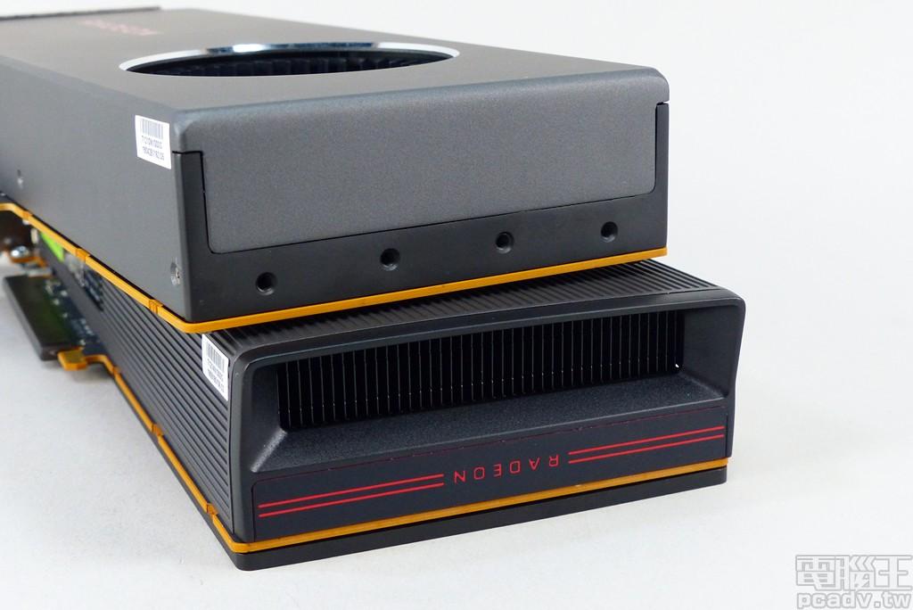 Radeon RX 5700 XT 散熱器末端另外增添散熱鰭片。
