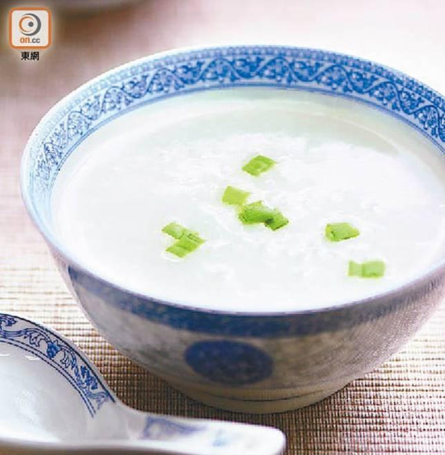 白粥是高GI食物,比白飯還要高,不宜多吃。(資料圖片)
