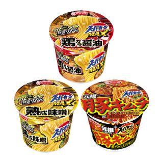 スーパーカップMAX(鶏ガラ醤油ラーメン/熟成味噌ラーメン)/スーパーカップ 1.5豚キムチラーメン(107g)