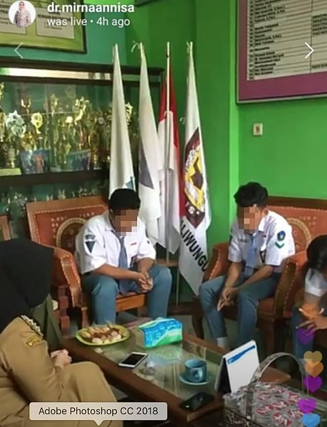 Suasana pertemuan Bupati Kendal, Siswa SMK 03 NU Kaliwungu Kendal, dan Pak Joko. (Foto:Instagram @dr.mirnaannisa)