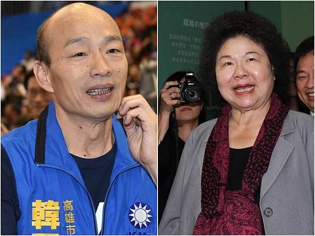 ▲民進黨怕了?韓國瑜氣勢如虹,陳菊:「我做這麼認真不會輸。」(圖/NOWnews資料照)